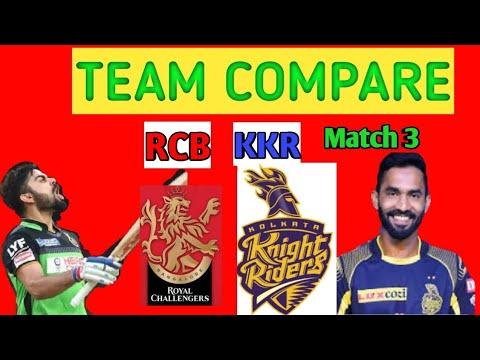 MATCH 3 : RCB VS KKR COMPARISON 2020|IPL2020 - YouTube