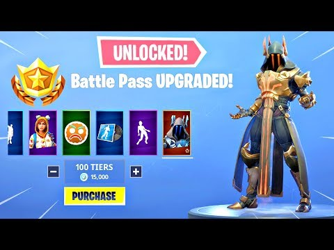 BUYING ALL 100 TIERS Season 7 Battle Pass ALL ITEMS UNLOCKED - Fortnite Battle Royale