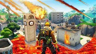 """EMPLACEMENT du CRASH de la MÉTÉORITE de Fortnite Battle Royale !! - """"Tilted Tower"""""""