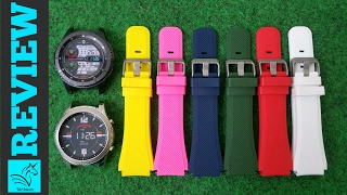 samsung gear s3 silicone watch bands review hd