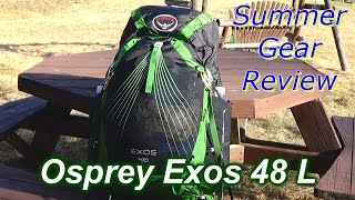 osprey exos 48 l backpack summer gear review 2016