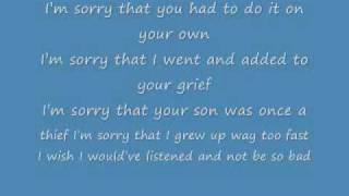 sorry you can put the blame on me lyrics