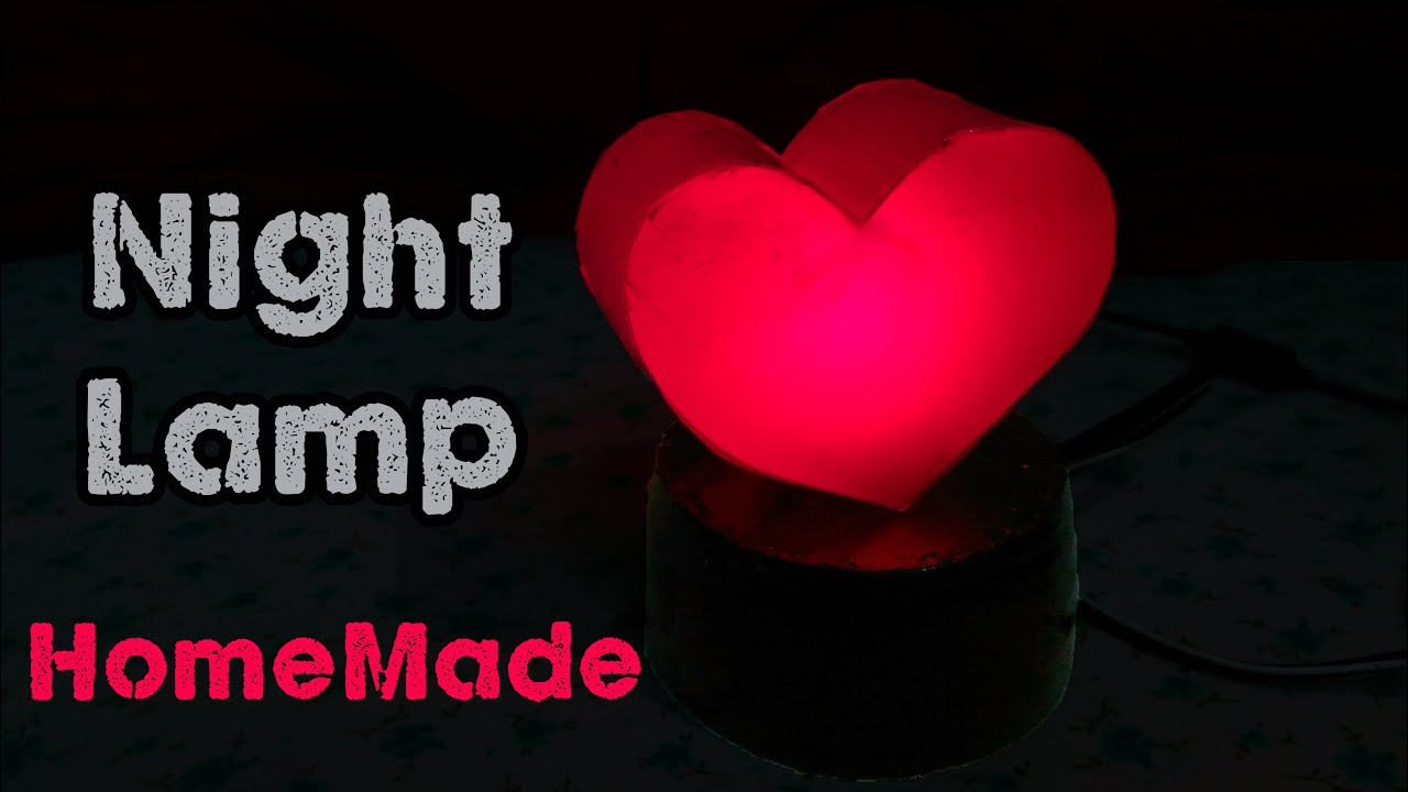 Lamps with night light - How To Make A Night Lamp Diy Love Night Light Using Bottle Youtube