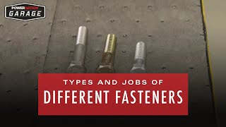 Types And Jobs Of Different Fasteners