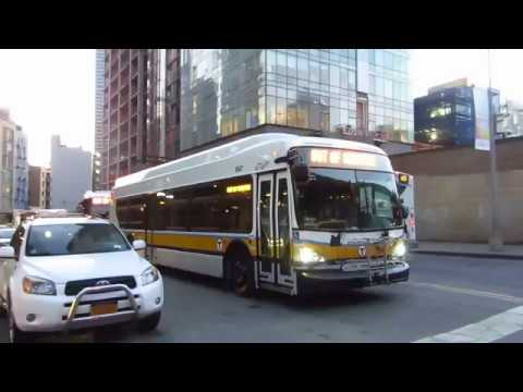 EXCLUSIVE: MBTA XDE40 1847 Demo Bus at Queens Plaza S/28 St