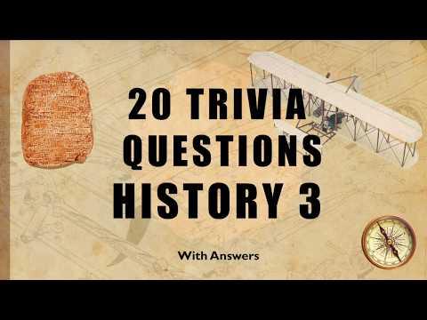 20 Trivia Questions (History) No. 3