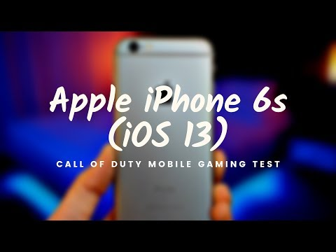 Apple IPhone 6s (iOS 13): Call Of Duty Mobile Gaming Test