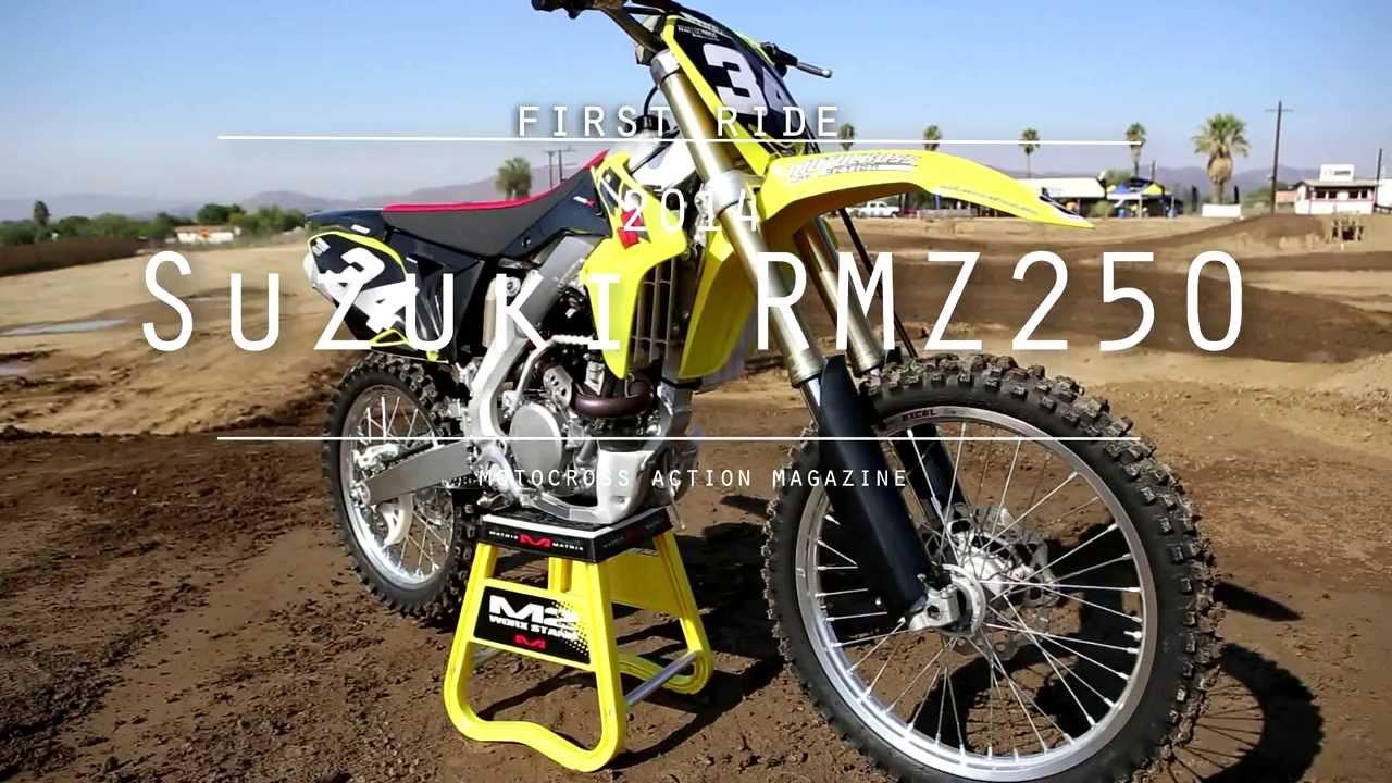 Suzuki Rmz 250 Motocross Action39s First Ride On The 2014 Suzuki Rmz250 Youtube