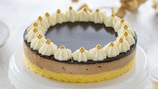 Polentina torta s toffee kremo