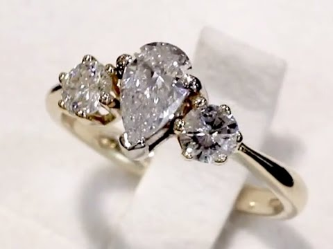 1.20 ct Diamond, 18 ct Yellow Gold Trilogy Ring - Contemporary 1997 - A3238
