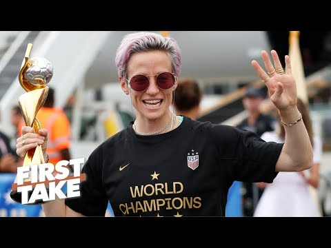 Pay equality at the forefront of the USWNT parade | First Take