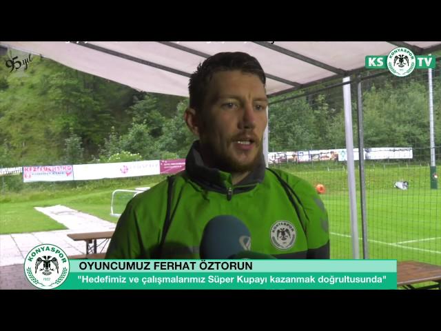 Oyuncumuz Ferhat Öztorun yeni sezon hazırlıklarını ve Süper Kupa maçını değerlendirdi