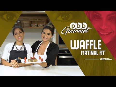 PBB Gourmet #66 - WAFFLE matinal FIT (com MAYRA CARDI)