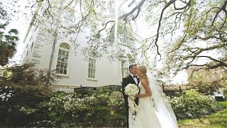 Gorgeous Charleston destination wedding video at William Aiken House