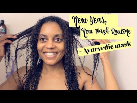Ayurvedic Hair Mask NEW ROUTINE | Fine Natural Hair