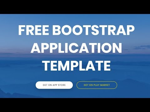bootstrap application template free html website templates youtube