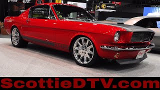 "1965 Ford Mustang ""T.A. 600"" Alloway's Hot Rod Shop Pro Auto Custom Interiors The SEMA Show 2017"