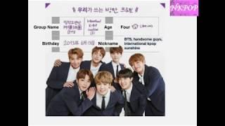 [ENG] BTS PROFILE UPDATE : 방탄소년단 BTS FESTA 2017