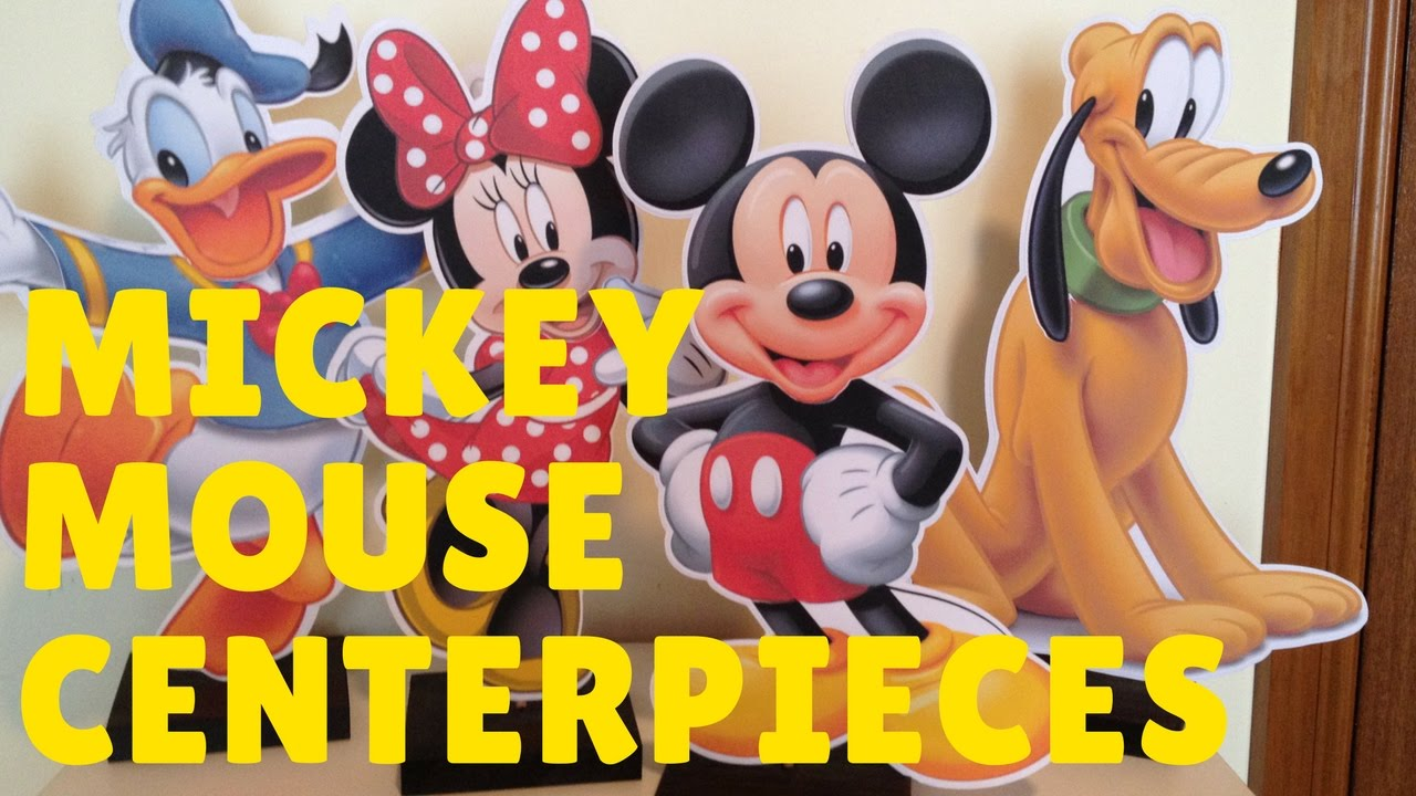 How To Make Mickey Mouse Minnie Centerpiece Party Decorations