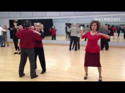 Fred Astaire Dance Studio's Tuesday dance class for seniors. Dancing has a number of health benefits