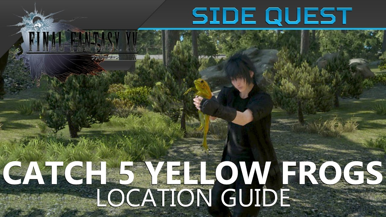 Final fantasy xv catch 5 yellow frogs location guide for Final fantasy 15 fishing guide