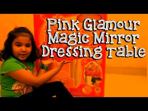 Glamour Mirror And Dressing Table Set - Kids Dressing Table Unboxing