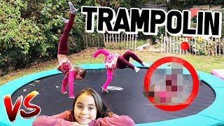 Trampolin Challenge 💪 JoJo Joana vs. Lulu 😁 Lulu & Leon