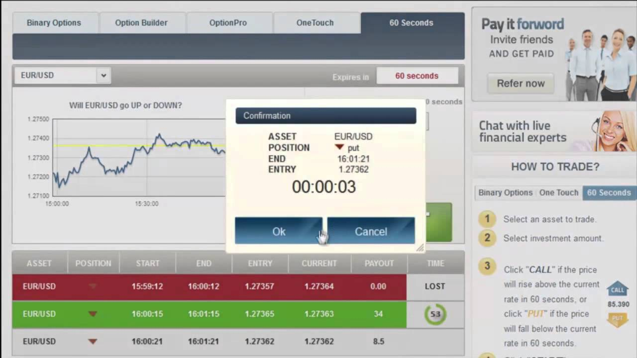 Binary options trade simulator