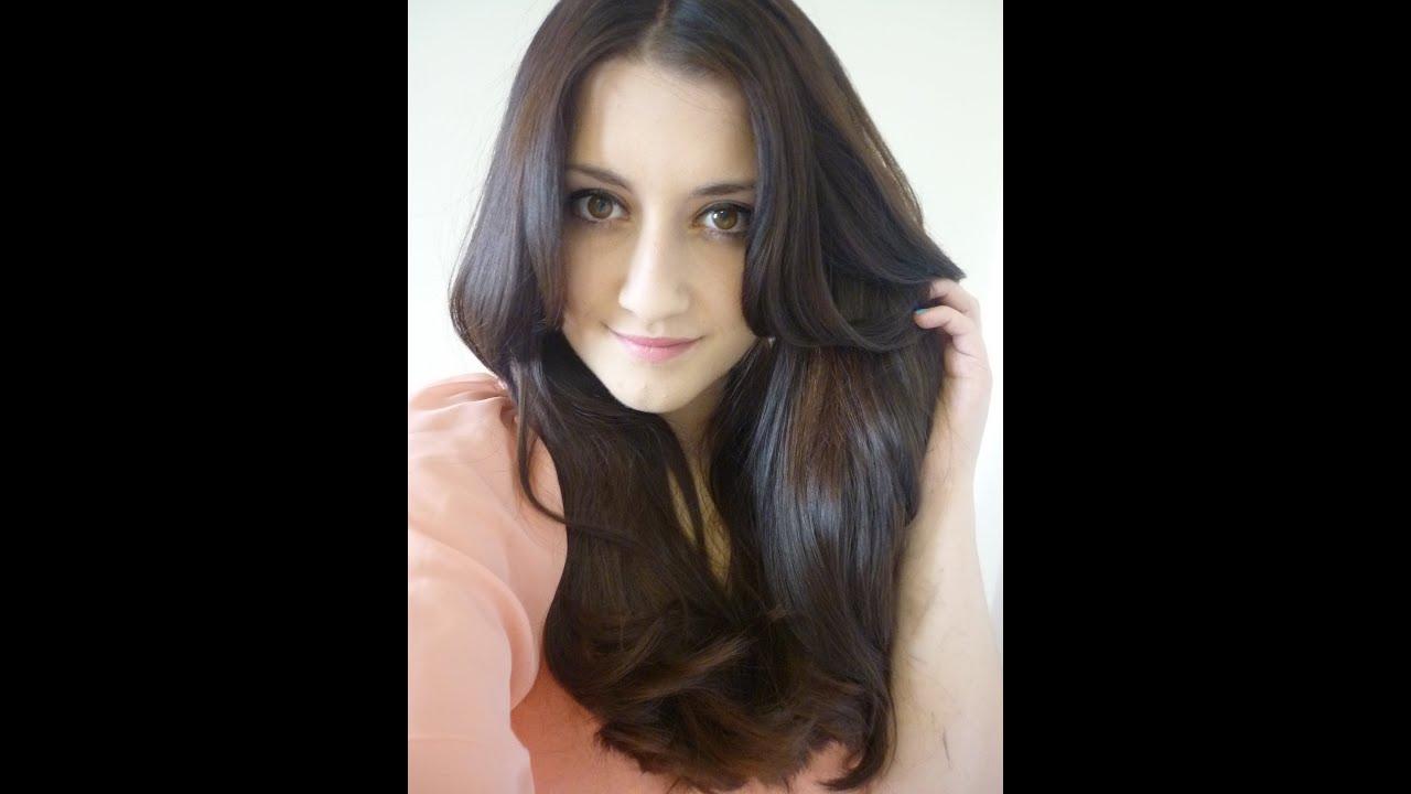 Warm Mahogany Brown Hair Color