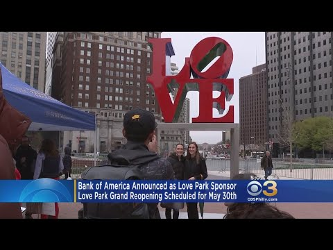 Bank Of America Announced As Love Park Sponsor