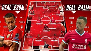 LIVERPOOL ON FIRE 🔥| How JURGEN KLOPP DREAM TEAM XI Season 2020/21 + TRANSFER 2021 FT: Thiago.
