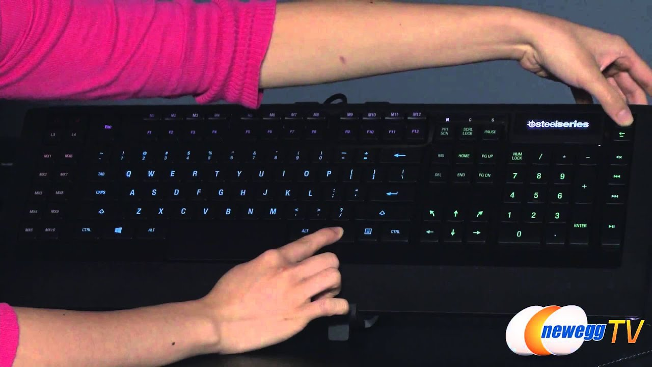 SteelSeries Apex [RAW] Wired Gaming Keyboard Overview - Newegg TV - YouTube