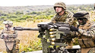 Highly Effective MK19 40mm Automatic Grenade Launcher | US Marines