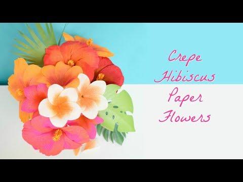 Easy Crepe Paper Hibiscus Flower Tutorial