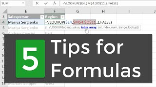 5 Tips for Working with Formulas in Excel