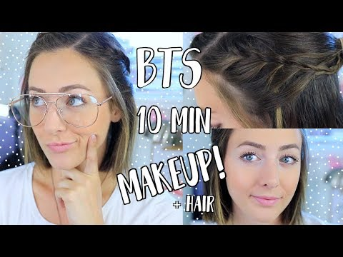 Back To School 10 Minute Makeup + Hairstyle! All Drugstore!