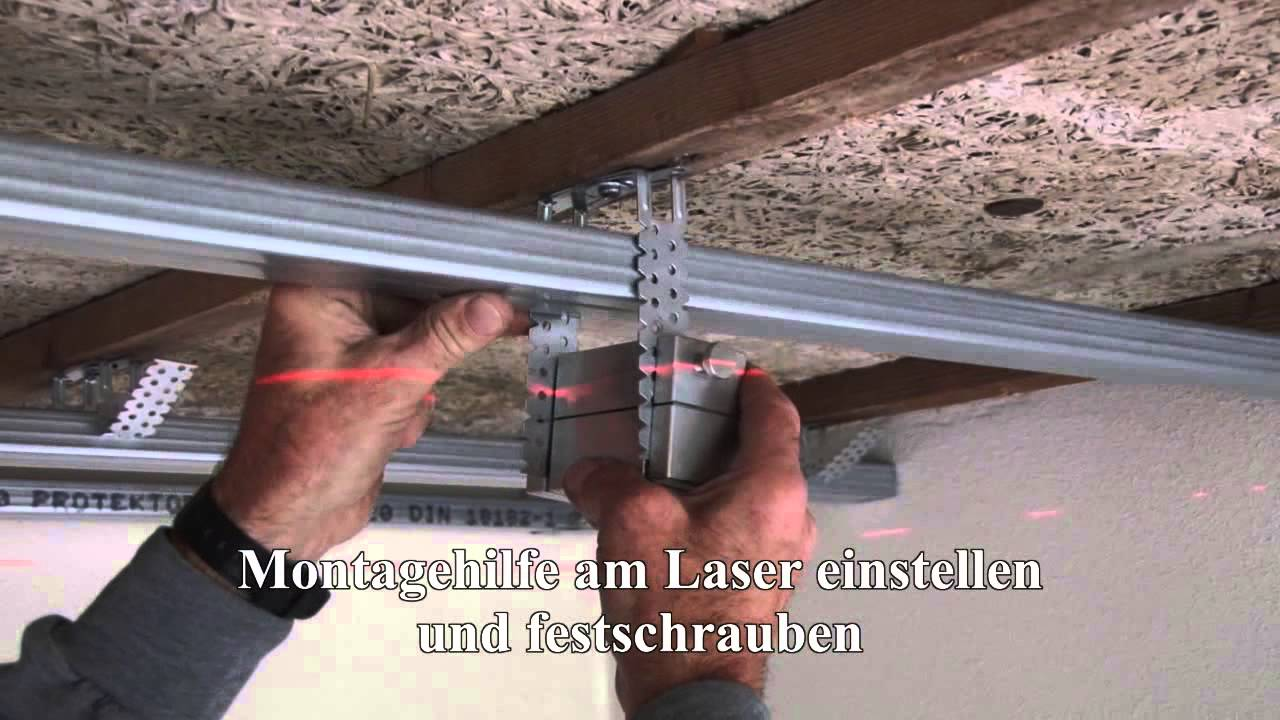 Decke Mit Rigips Montagehilfe Biller - Youtube