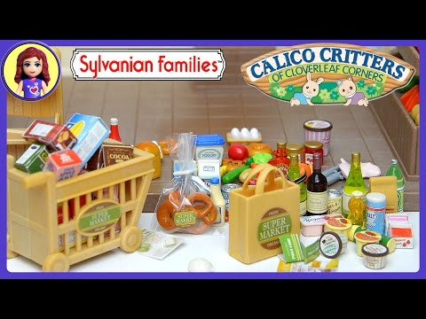 Sylvanian Families Calico Critters Supermarket Set Unboxing Review - Kids Toys