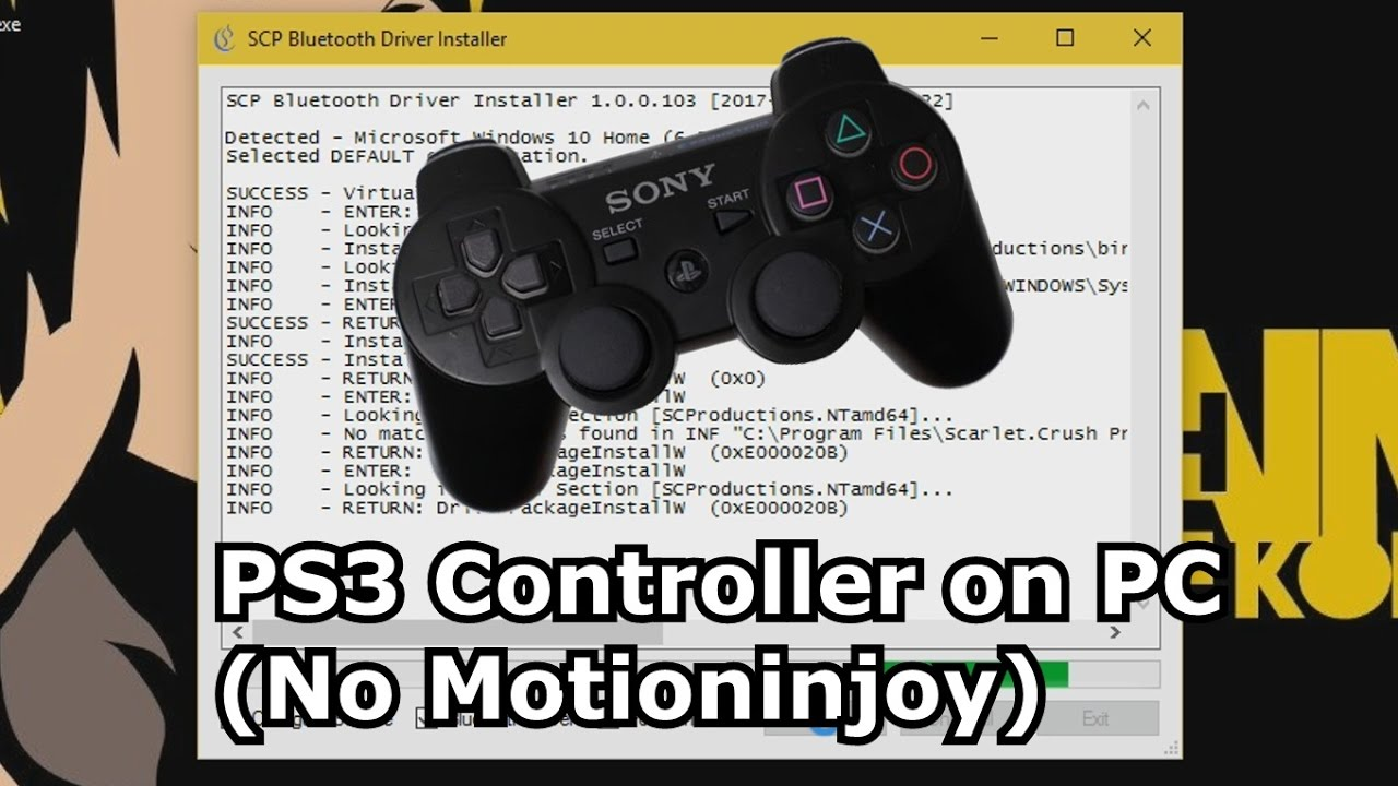 PS3 Controller on PC (No Motioninjoy)