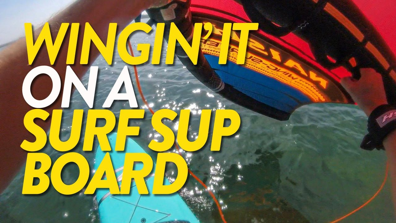 Wingin' it on a Surf SUP Board.