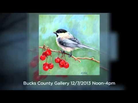 Bucks County Gallery 6 x 6 inch exhibit