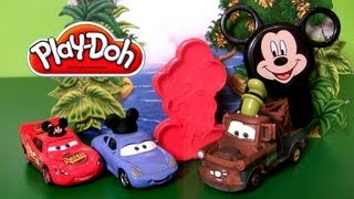 Play Doh Mickey Stamp & Cut * Mickey Mouse Clubhouse With Goofy-Mater & Sally Disneyplaydough
