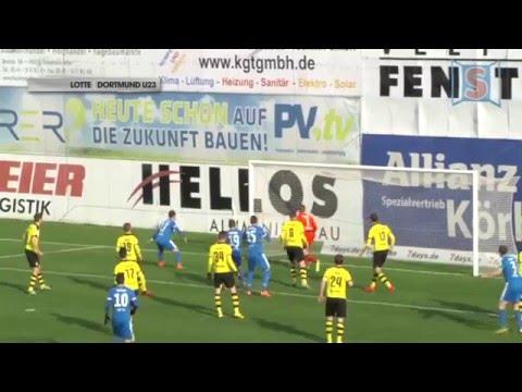 Regionalliga West: Sportfreunde Lotte - Borussia Dortmund II (23. Spieltag)
