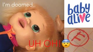 Baby Alive Tiffany Fails A Test?! (Please Check The Description-)
