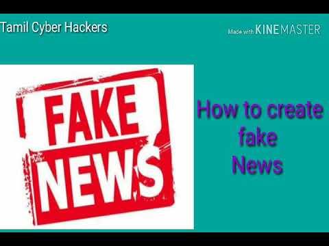 How to create fake news tamil