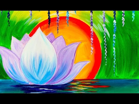 Zen Lotus Flower Step By Step For Beginners Acrylic Tutorial The