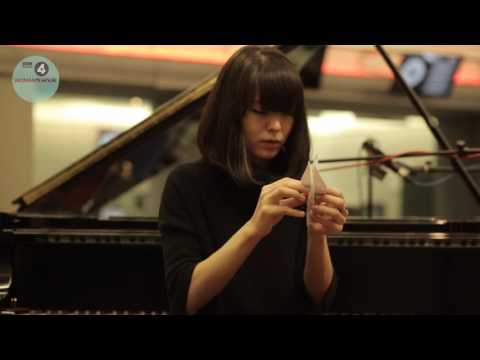 Warming up before a performance - Alice Sara Ott