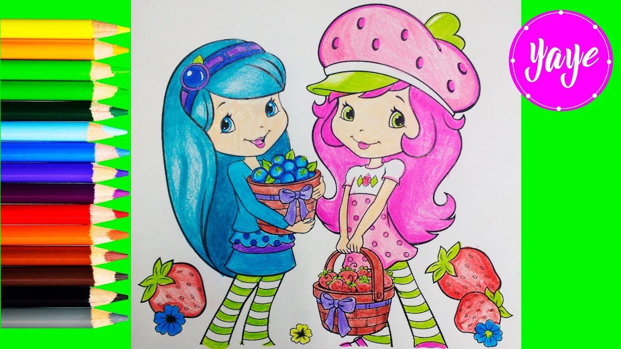 Como Colorear A Rosita Fresita Y Morita How To Coloring Rosita And Morita For Kids Yaye