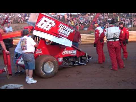 Lincoln Speedway 410 and 358 Sprint Car Highlights 8-13-16