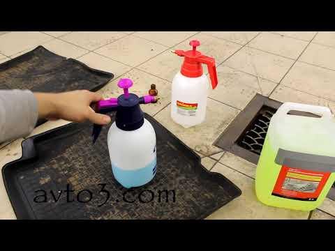 Как отмыть салонные коврики в авто
